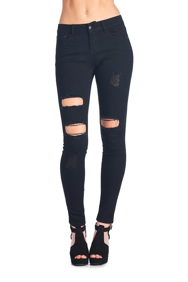 The All Torn Up Black Skinny Jeans