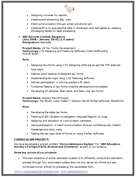 Bsc Resume Format Cv Format For Bsc 2, Created In Microsoft Word