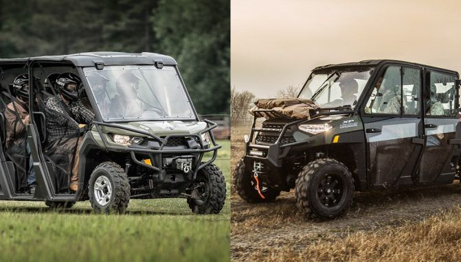 2019 polaris ranger crew xp 1000 vs can am defender max dps hd10 by the numbers atv com