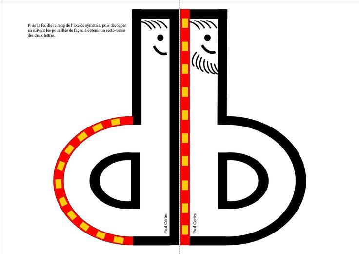 Voici deux petits outils pouvant aider certains élèves à différencier é et è ainsi que b et d. Il suffit de plier chaque feuille en suivant son axe de symétrie pour obtenir un recto/verso présentant le couple des lettres prêtant à confusion. On découpera...