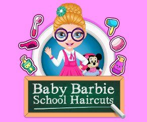 Baby Barbie School Haircuts, http://www.mybabybarbiegames.com/game/baby-barbie-school-haircuts. Baby Barbie is thrilled to be back to school. The new term finds her looking more fashion fabulous than ever before.