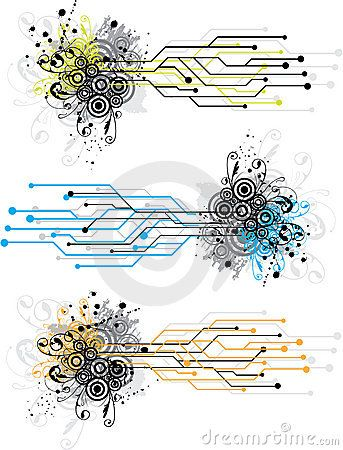 circuit board design | Grunge circuit board design using electronic circuit patterns and ...