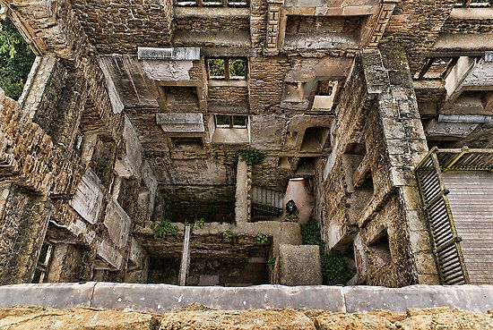 Inside Old Hardwick Hall by Neal Petts - ruins