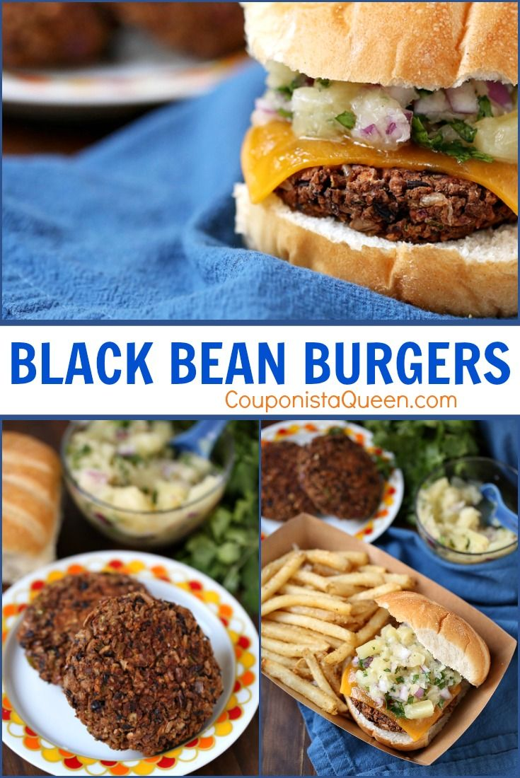 Meatless Black Bean Burgers      Get cooking with CouponistaQueen.com and enjoy something delicious today.