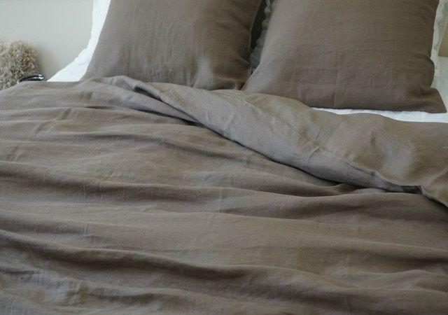 Cedar Linen Duvet Cover Dark Brown Brown Duvet Covers Linen Duvet Covers Linen Bedding Natural