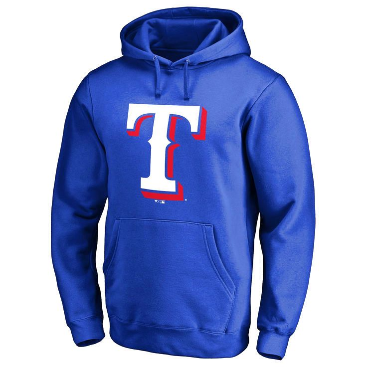 Texas Rangers Team Color Primary Logo Pullover Hoodie - Royal - $79.99