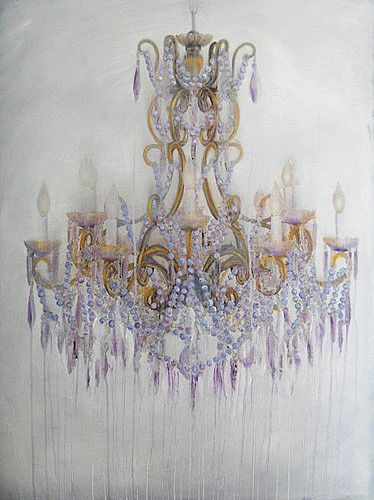 Jen Wardle has to start painting chandeliers again!!!  Want one!  Sarah Martin painting