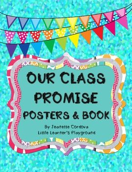 Our Class Promise Posters & Book set FREEBIE!