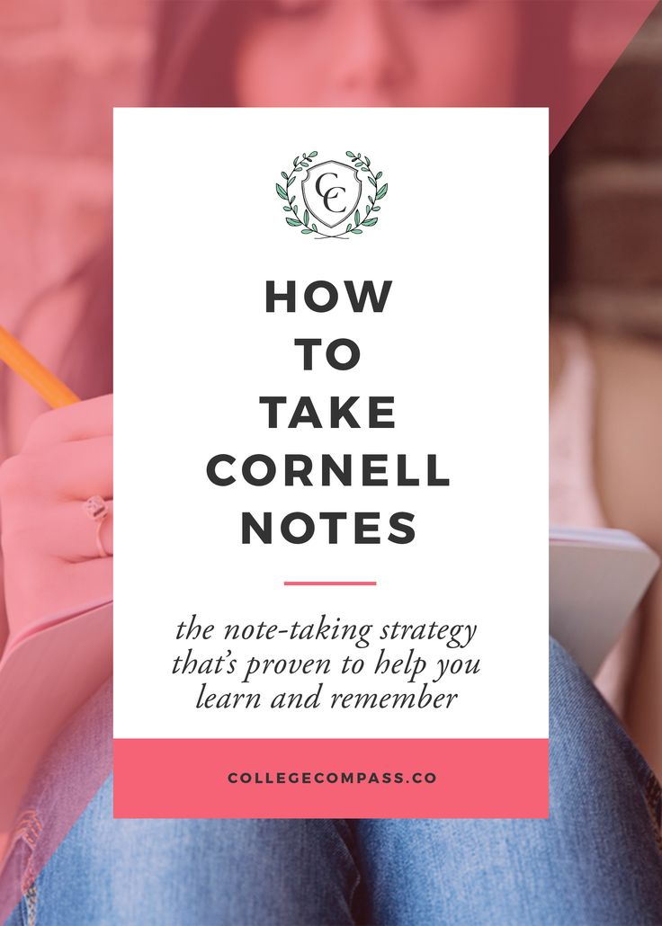 A quick guide to Cornell Notes! Pin to save for later, and click through to read on College Compass! via @collegecompassc