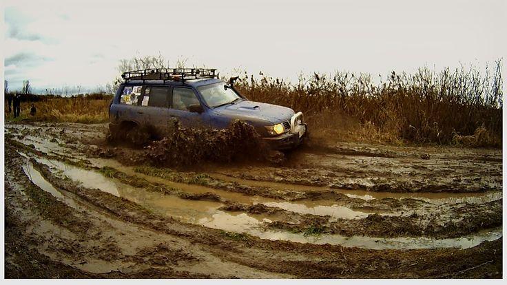 Уаз Патриот пикап, Nissan проходимость колея, грязь