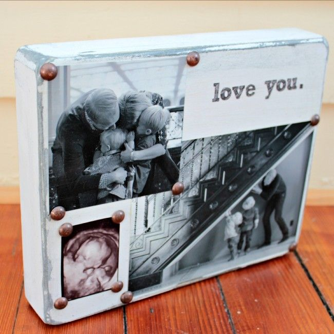 DIY Distressed Photo Block  |  View From The Fridge
