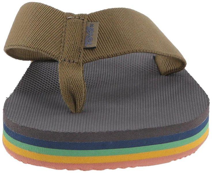 On SALE now! Teva Deckers Flip Flop 8 M Mens Eiffel Tower Rainbow Shoes Sandals New #Teva #FlipFlops
