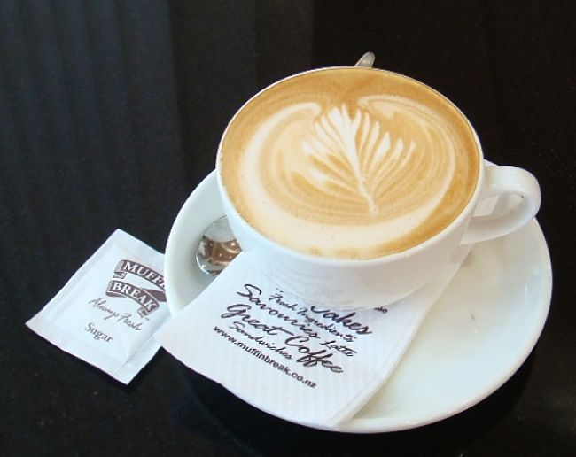 Flat White Coffee, made with streamed milk