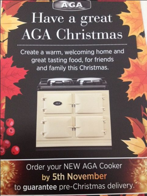 Have a great AGA Christmas!  Create a warm, welcoming home and great tasting food, for friends and family this Christmas. Discover our latest electric and gas models with switch on/off hotplates and greatly reduced running costs.  Call or visit AGA Glasgow: 130-132 Great Western Road, Glasgow, G4 9AD T: 0141 3328486   agaliving.com  With the help of F D G Flyer Distribution Glasgow - https://plus.google.com/+FlyerdistributionglasgowCoUk/posts/XyyPbXXFNGV