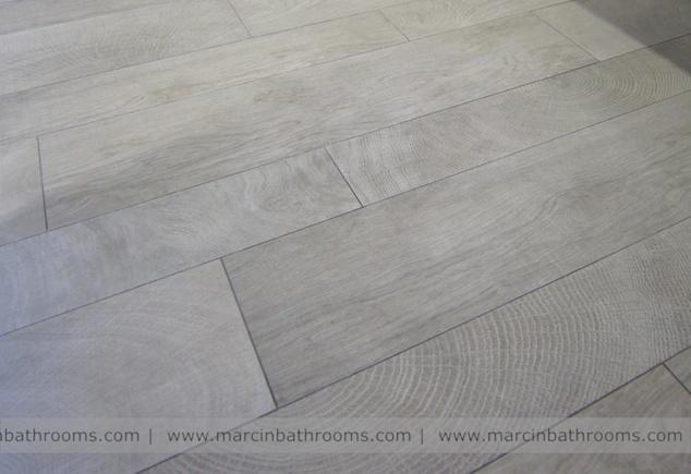 Porcelanosa Oxford wood effect floor tiles #porcelanosa #marcinbathrooms