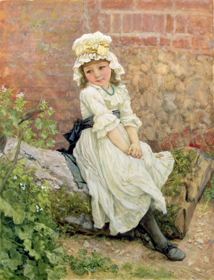 Edward killingworth johnson for Paintings of toddlers