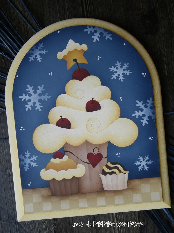 nice little winter themed decorative painting