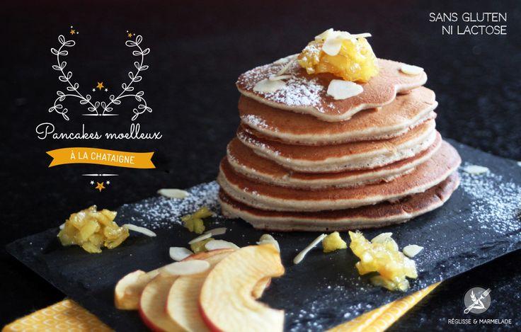 Pancakes à la châtaigne sans gluten ni lait