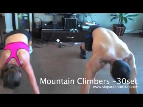 INTENSE 5 Min Home Abs Workout - MIKE vs. SHANNON!