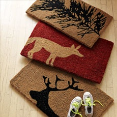 Crafted From Coir, A Sustainable Material Made From The Husk Of A Coconut,  This Durable Fox Doormat Is Great For High Traffic Entryways.