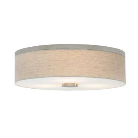 "Fiona 18 Flush Mount Ceiling Light. D= 20"" (508 mm), h=6.3"" (107 mm)"