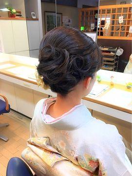 あだち美容室 en fleurir 【アンフローリア】[結婚式/お茶会 訪問着での和装に]シンプル着物へアセット