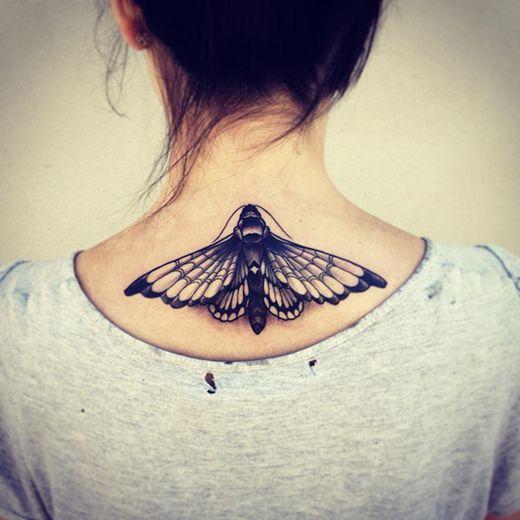 Moth black ink.