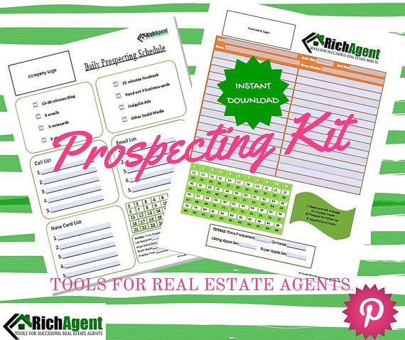 Prospecting for Real Estate Business Tools and Forms by RichAgent