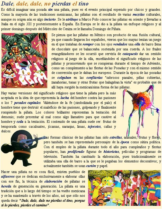 Texto: la piñata mexicana