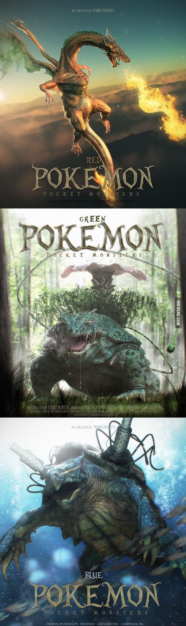 Terrifyingly awesome realistic Pokemon!