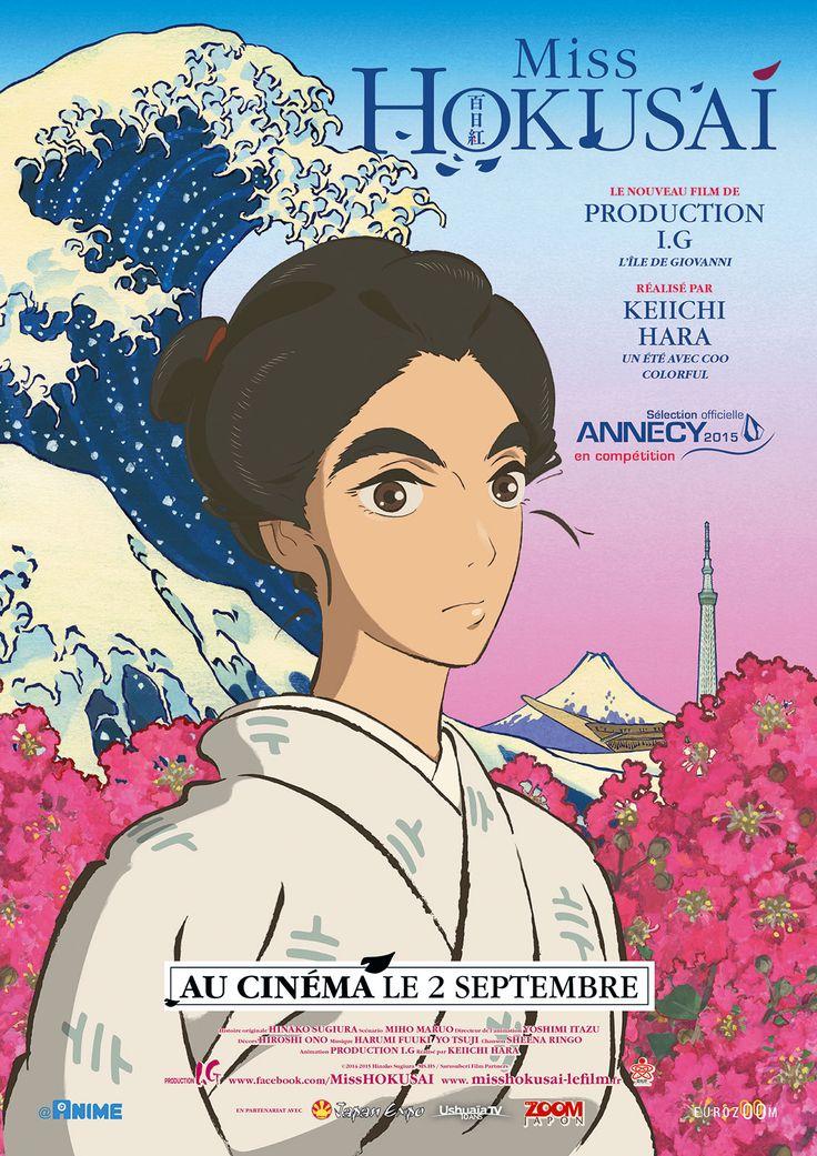 Miss Hokusai est un film de Keiichi Hara avec Yutaka Matsushige, Anne Watanabe. Synopsis : En 1814, HOKUSAI est un peintre reconnu de tout le Japon. Il réside avec sa fille O-Ei dans la ville d'EDO (l'actuelle TOKYO), enfermés la plupart du