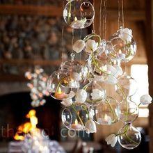 10 Stks/partij 80 MM Opknoping Theelichthouder Glazen Planter Terrarium Glasbol Kaarshouder Bruiloft Kandelaar Bruiloft…