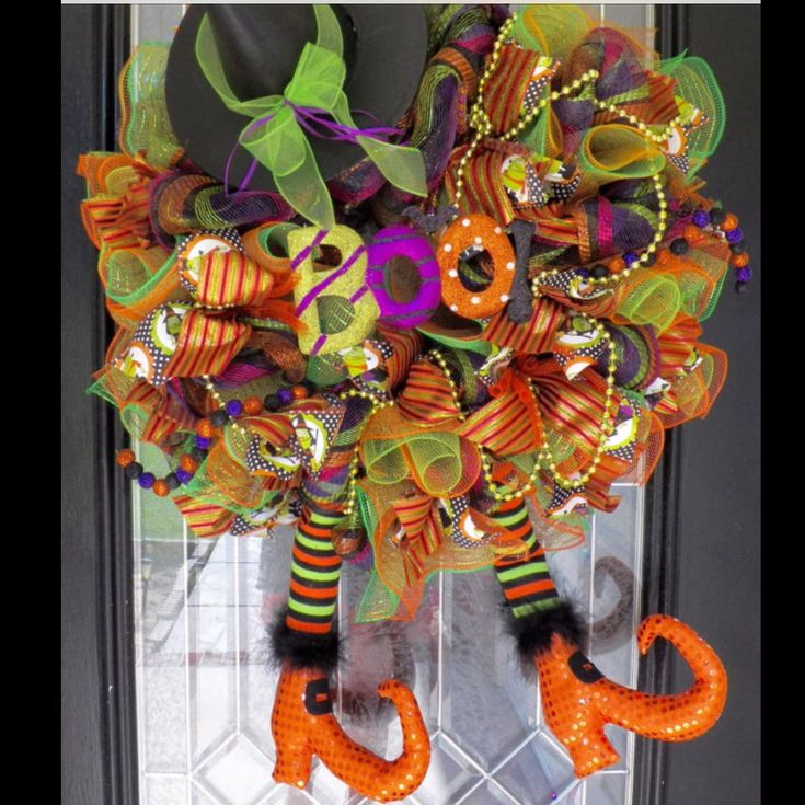 Wicked Witch Wreath on display