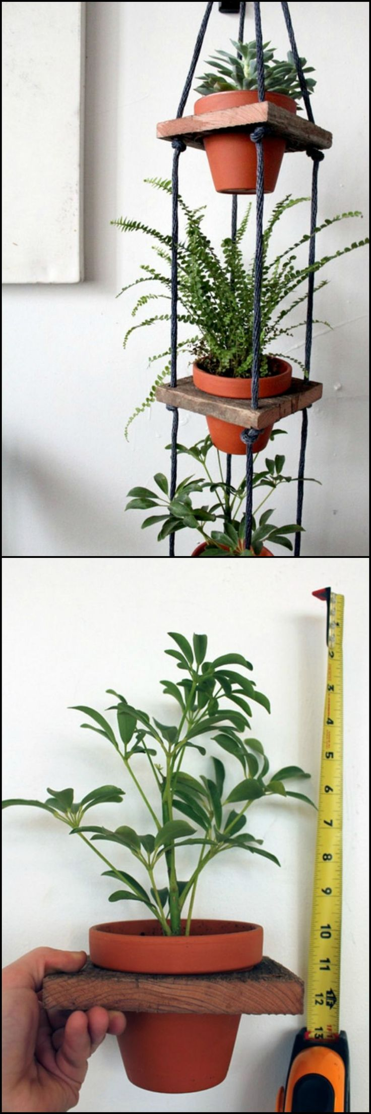 How To Make Tiered Hanging Pots  http://theownerbuildernetwork.co/69cu  Interested in going vertical with your greenery, why not make one of these tiered hanging planters?  You can start you own vertical garden. All you need is a bit of scrap wood, some rope, a few basic woodworking tools, and terracotta pots.