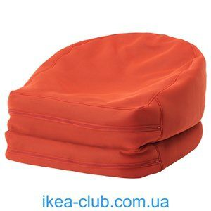 ИКЕА, IKEA, БУССЭН, 303.129.10, Пуф-мешок д/дома/сада, оранжевый