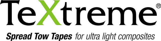 TeXtreme® Spread Tow Tapes  logo with tagline.