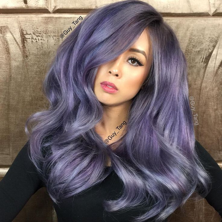 Smoked Amethyst using Guy Tang Favorite @kenra Demi 7sm with 2in blue and 2in red booster and 7sm Demi with 2in blue booster and 7sm with 4in Violet booster
