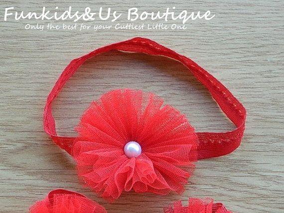 Red Baby HeadbandBaby Girl headbandNewborn by FunkidsandUsBoutique, $3.27