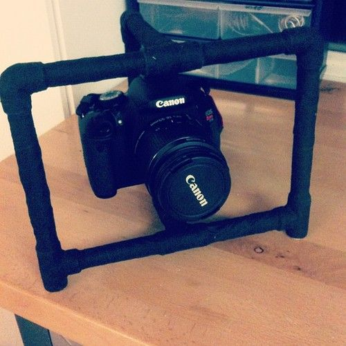 DIY camera stabilizer (AFTER). I Tony Starked this mufucka together tonight.