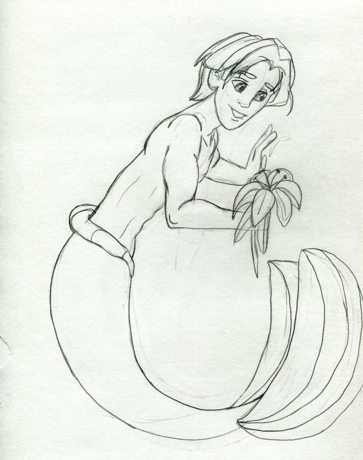 The little mermaid melody grown up merman in love with for Boy mermaid coloring page