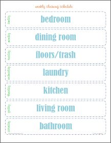 Label Me Organized: Cleaning Printables
