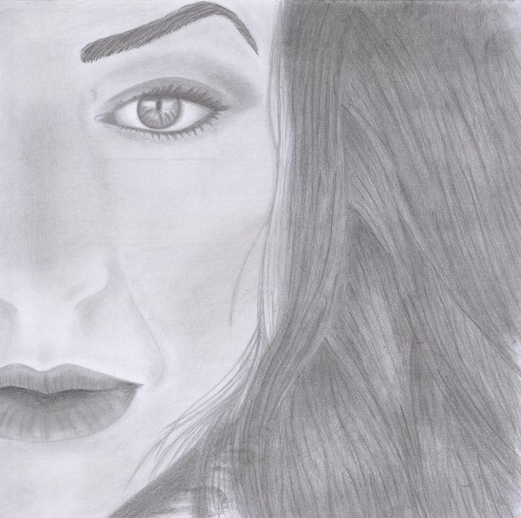 I think she looks like me :p  Portrait pencil drawing