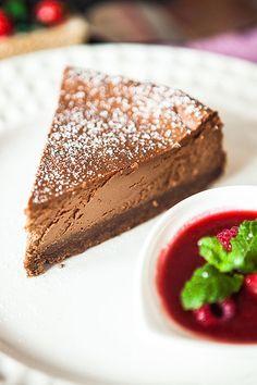 tvarohovy cheesecake s cokoladou