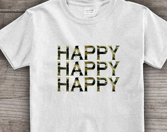 """Personalized t-shirt Funny Christmas, Message tees, """"happy""""  Christmas gift ideas, holiday gift under 25- a141"""