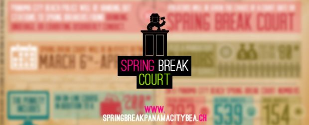 Panama City Beach Spring Break Court – INFOGRAPHIC. You should really learn about this before you arrive...