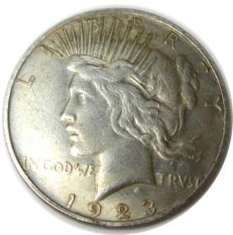 counterfeit peace silver dollar image