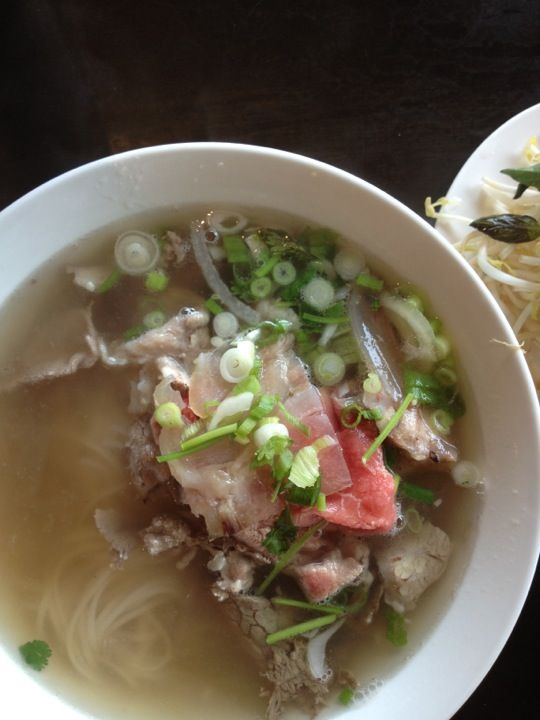 The signature Pho Bo Satay at this cash-only Main Street Pho-lovers delight is fabulous. End squabbling over where in town has the best Pho by coming here. The crunchy-spicy-juicy shrimp cake is also a must-have.