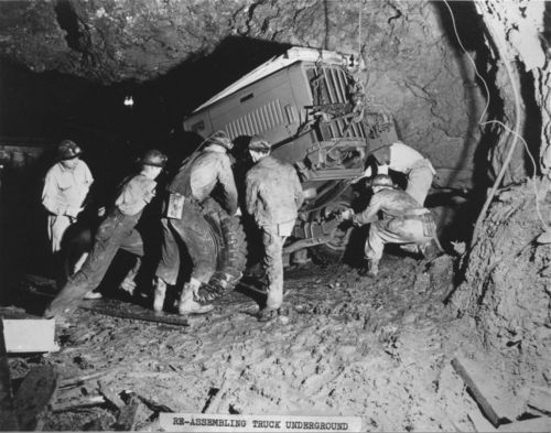 Coal Miners At The Grace Walker Coal Mine 1940s Or 1950s