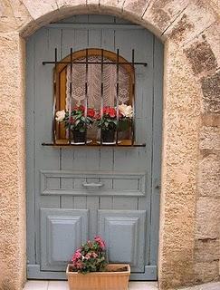 B33 blue door