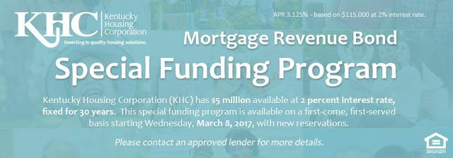 100% Financing, Zero Down Payment Kentucky Mortgage Home Loans for Kentucky First time Home Buyers: 2017 Kentucky First Time Homebuyer Down Payment Assistance for Kentucky First Time Home Buyers for $4500 to $6000 from Kentucky Housing DAP Funds